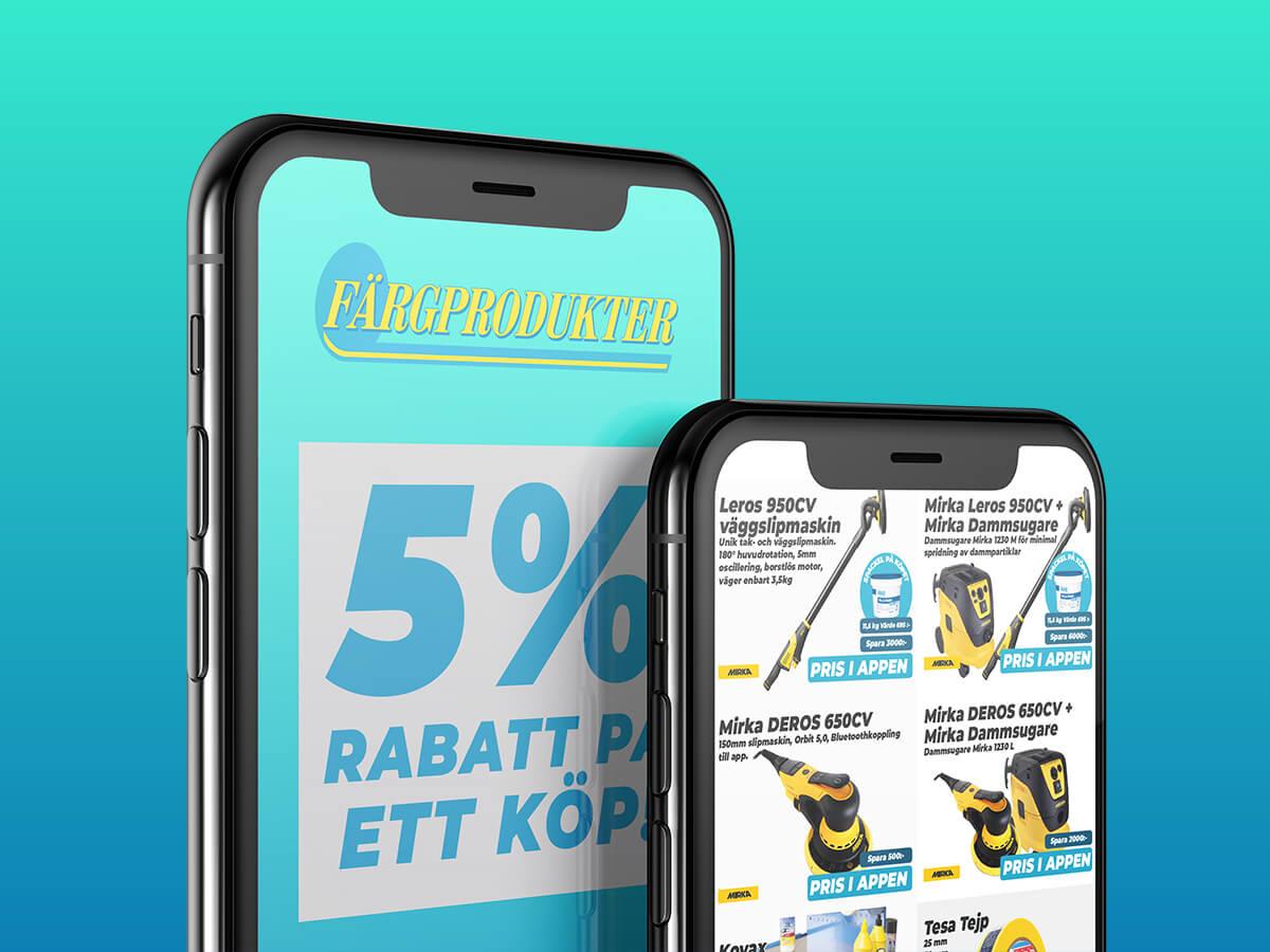 Färgprodukter lanserar app!